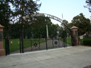 Mound Cemetery Entrance Gate