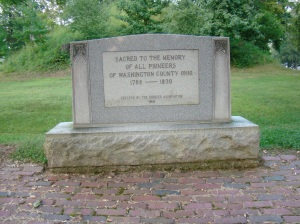 Mound Cemetery's Dedication to the Pioneers of the area.