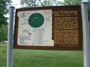 Map of Mound Cemetery - also one in the book