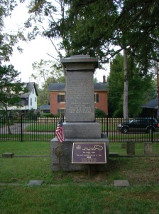 The tombstone of Rufus Putnam a very important man in the history of Marietta and more
