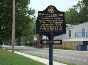 Harmar Cemetery in Marietta.