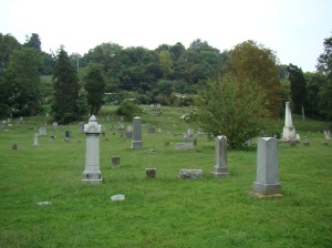 Harmar Cemetery looking west