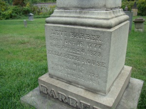 Levi Barber 1777 to 1833 and Elizabeth his wife