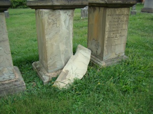 Flaking tombstones in Harmar - Humphreys