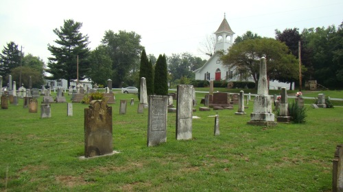 Noah Goss, Lydia, John and Ida Spracklin tombstones