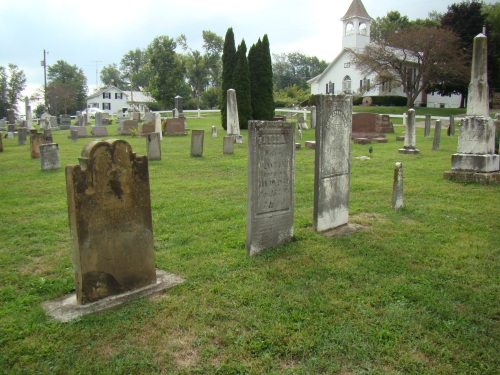 A Little different view of Noah Goss, Lydia, John and Ida's tombstones