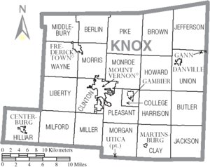 Knox County Twp map after 1848