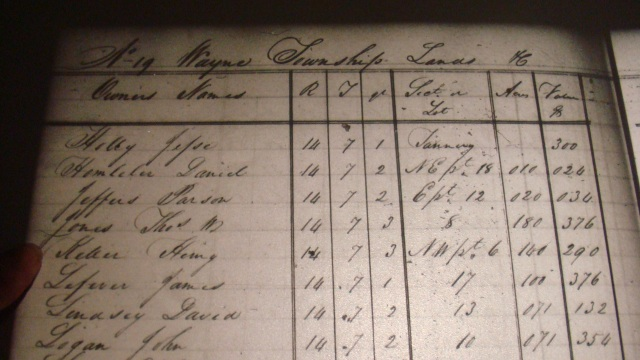 1833 Knox County Taxes